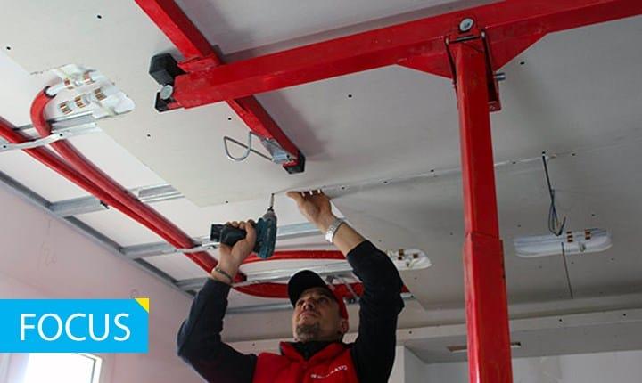 Foto: sistema radiante a soffitto ©Rossato group
