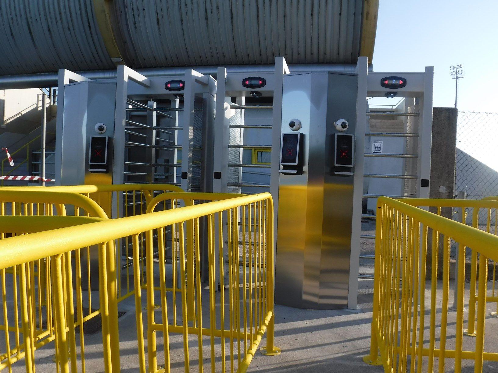 Came scende in campo per integrare sicurezza e controllo accessi dello stadio comunale G.Teghil di Lignano Sabbiadoro