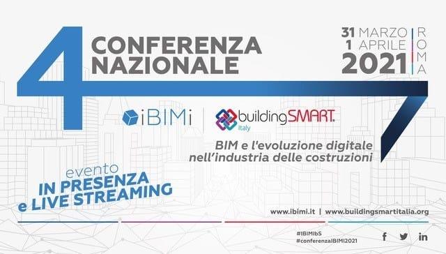 Il 31 marzo e l'1 aprile la IV Conferenza Nazionale IBIMI - buildingSMART Italia