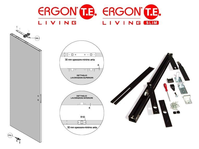 ERGON® Living T.E. e ERGON® Living T.E. Slim di Celegon: spessori anta ridotti, infinite possibilità