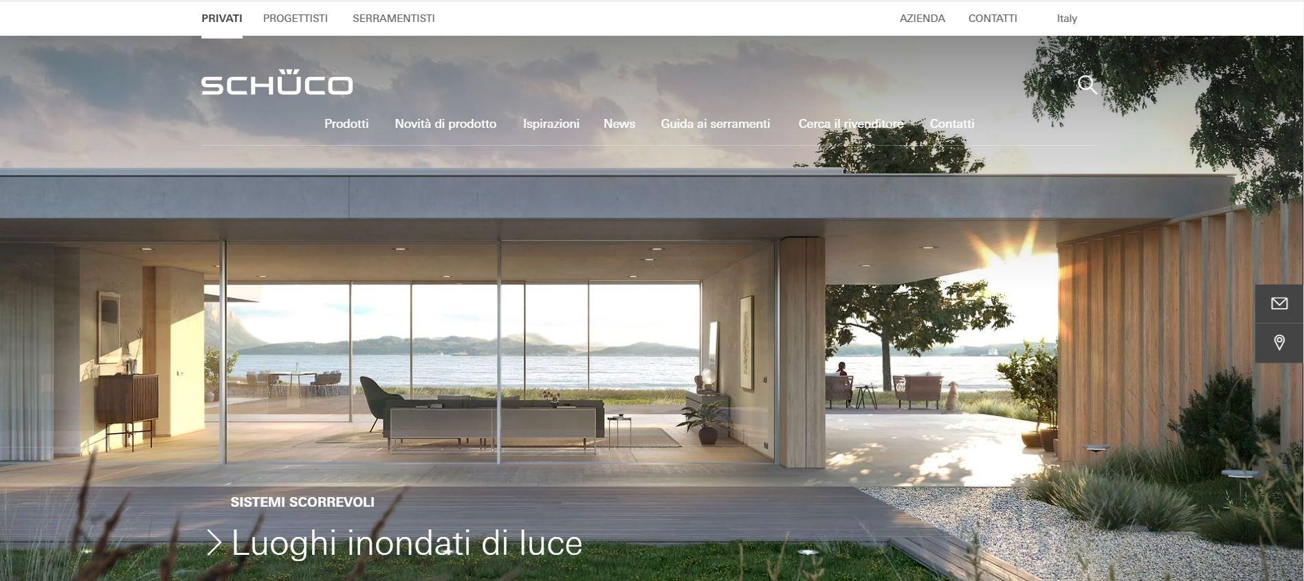 Schüco Italia: una nuova esperienza, interattiva e moderna, in un sistema digitale integrato e sinergico