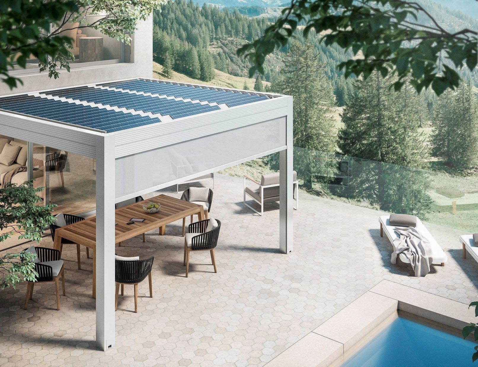 Gibus inventa la pergola bioclimatica fotovoltaica
