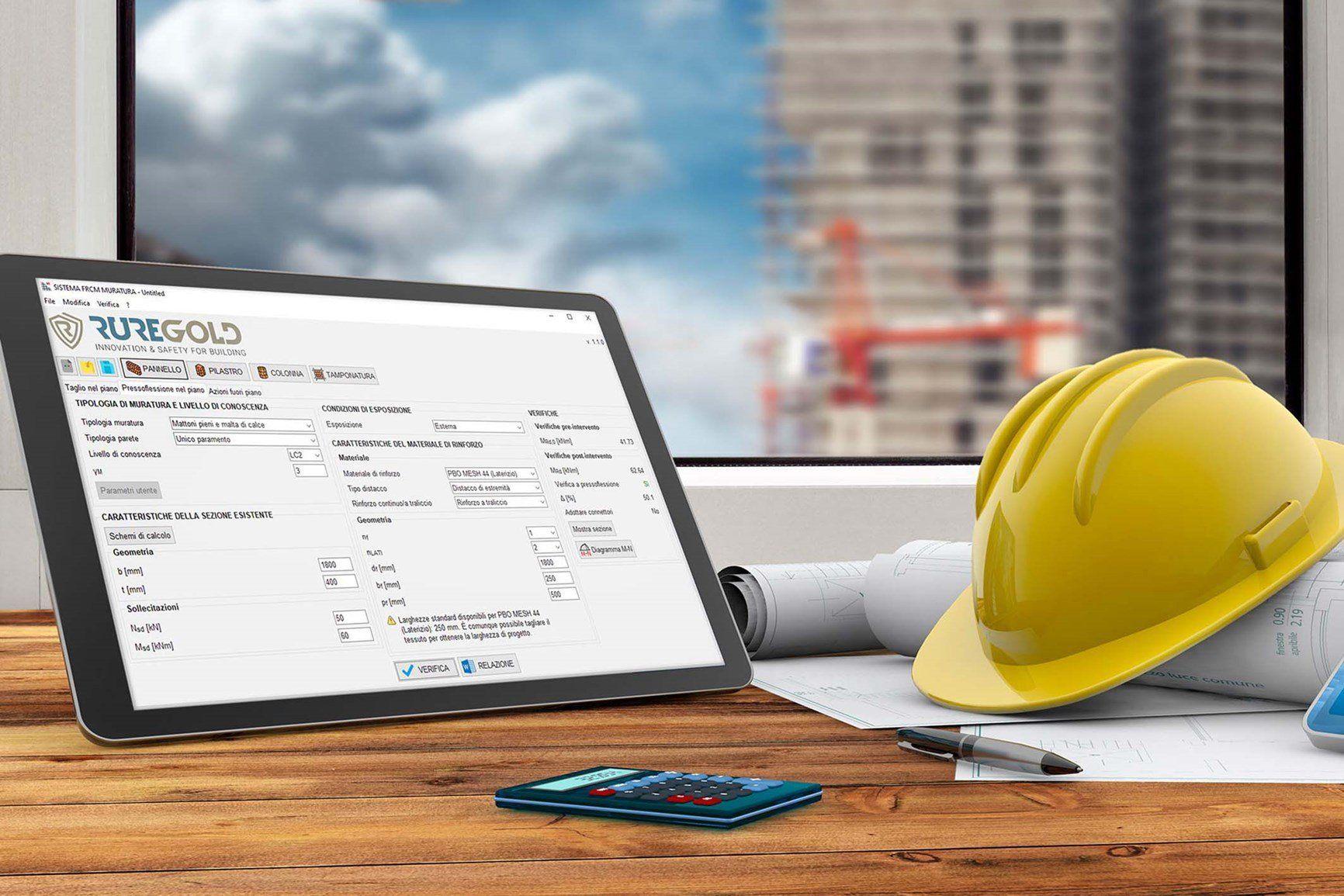 Ruregold offre ai progettisti due nuovi software per il progetto dei rinforzi strutturali con Sistemi FRCM