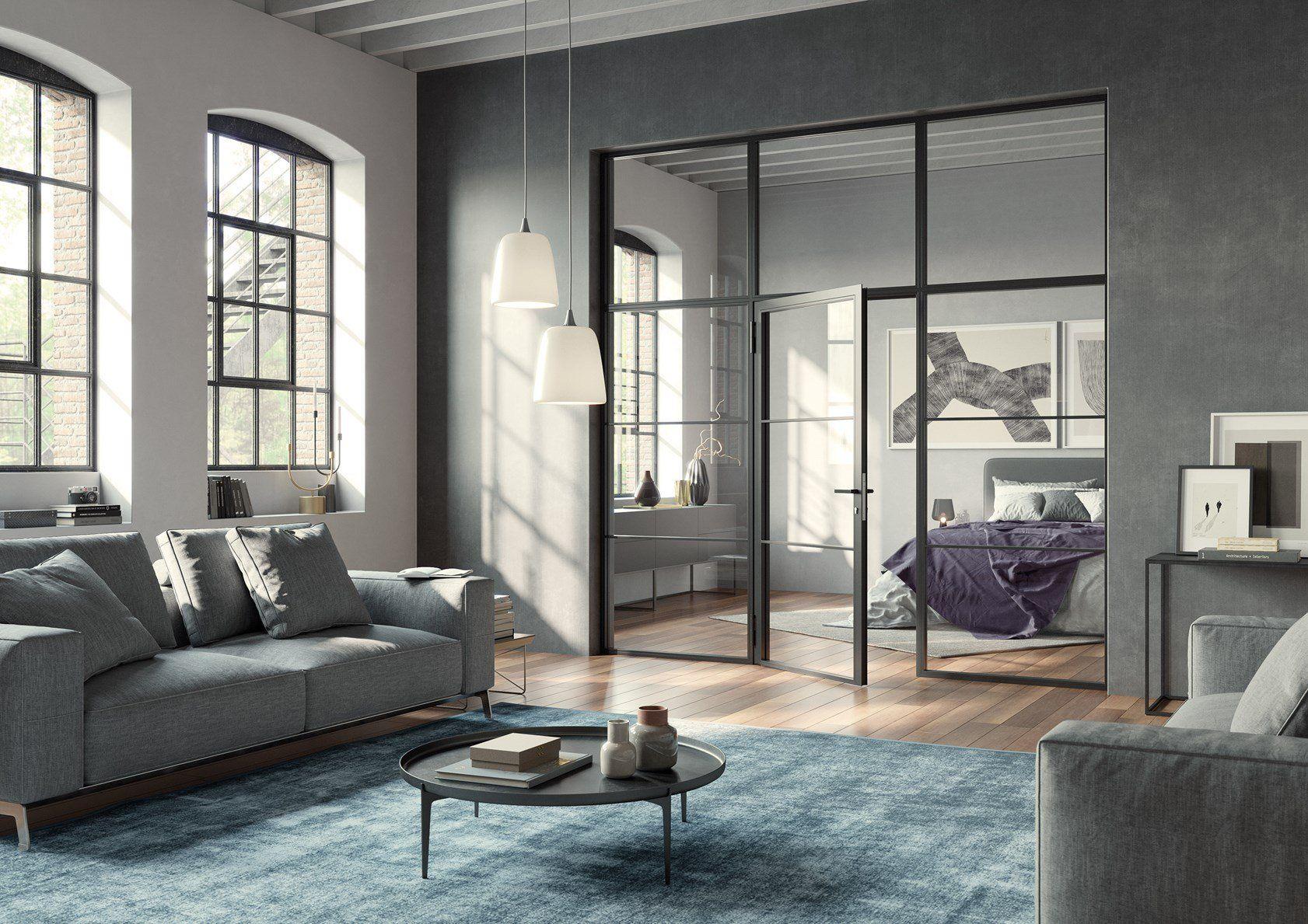 Nuove porte per loft LFT Hörmann: suggestive trasparenze dal mood industrial