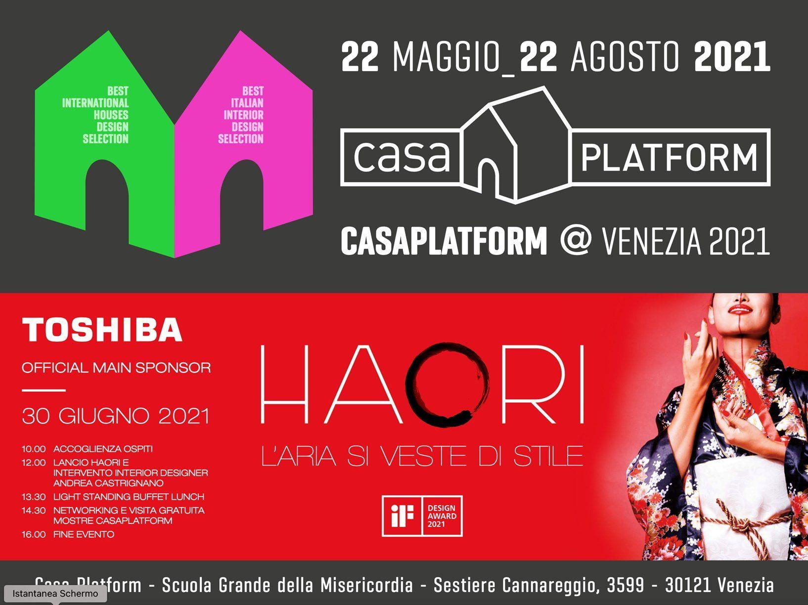 Toshiba invita architetti e interior designers ad un evento esclusivo a Venezia