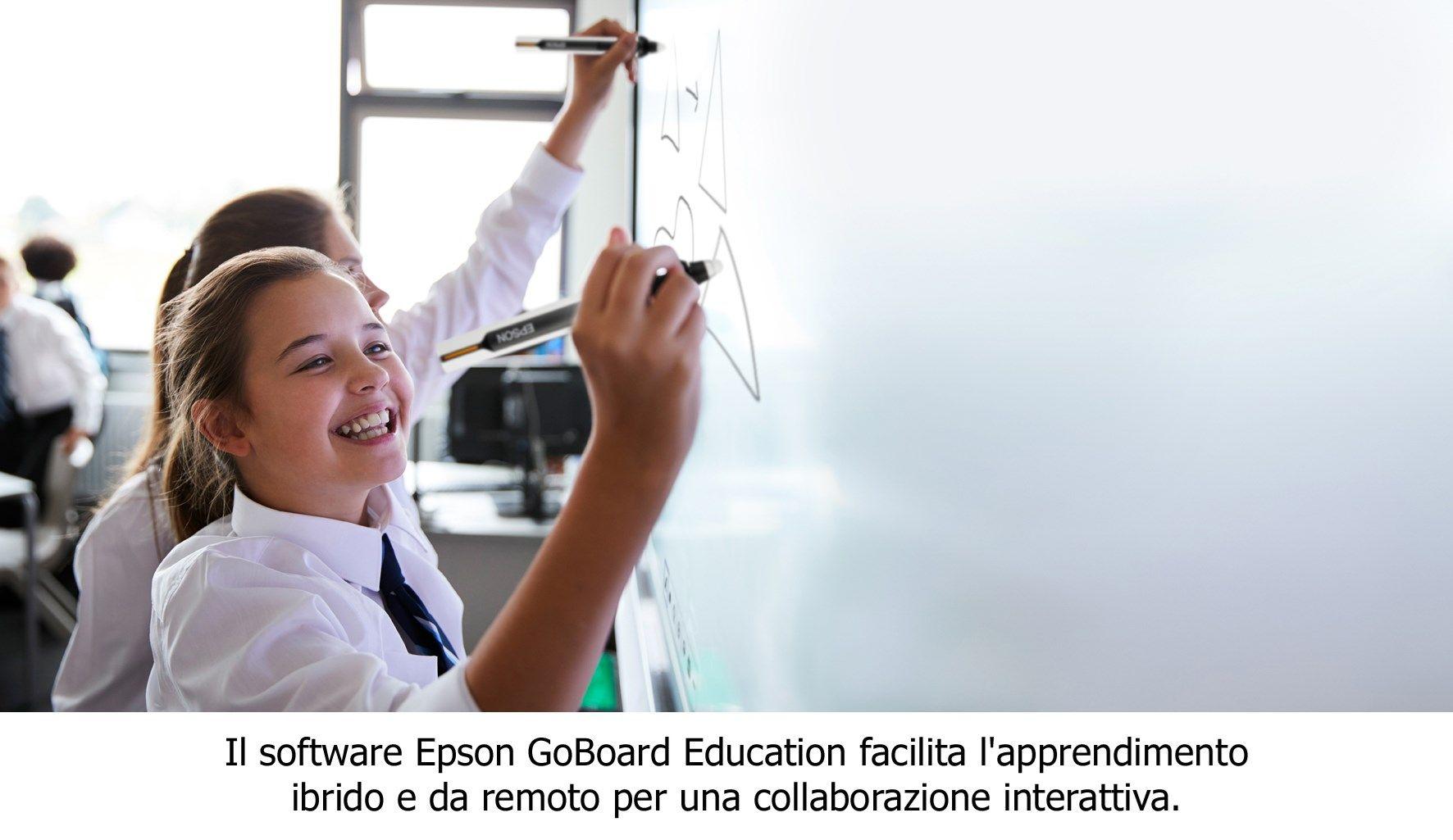 Epson presenta il software GoBoard Education per la didattica collaborativa e creativa