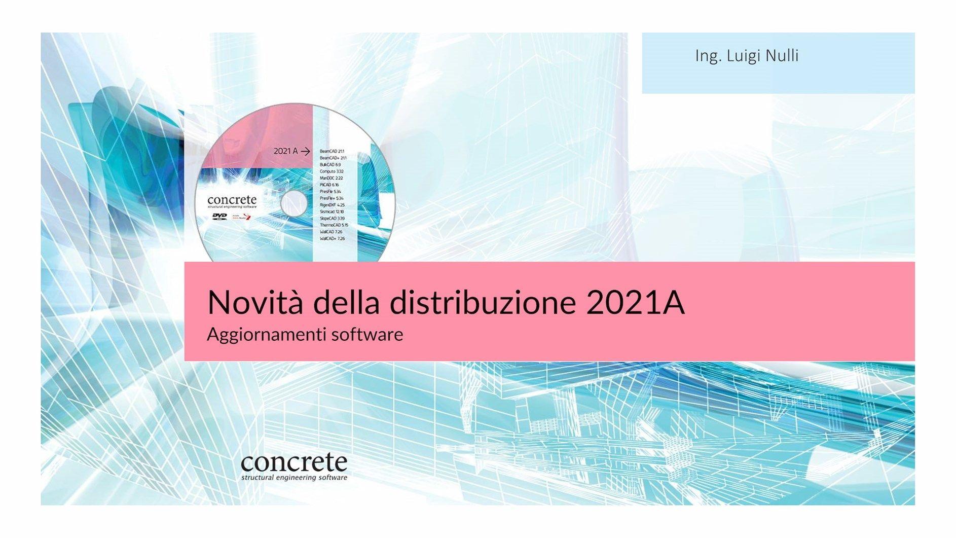 I software Concrete si aggiornano con le nuove versioni 2021A