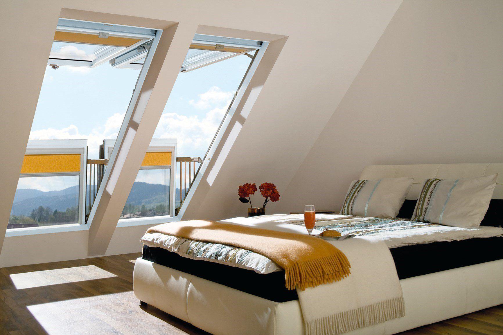 Nuovo look total white per la finestra da tetto Balcone Galeria di Fakro