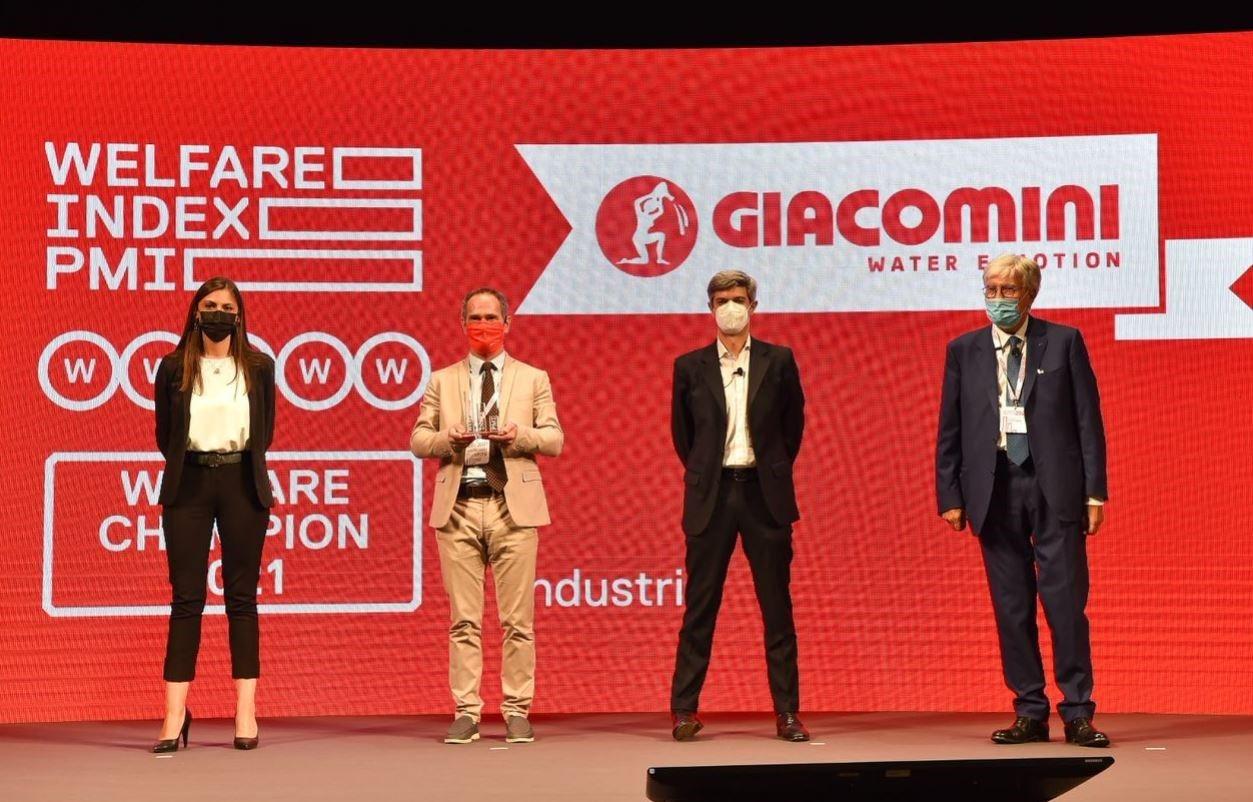 Il Gruppo Giacomini premiato per la seconda volta al Welfare Index PMI
