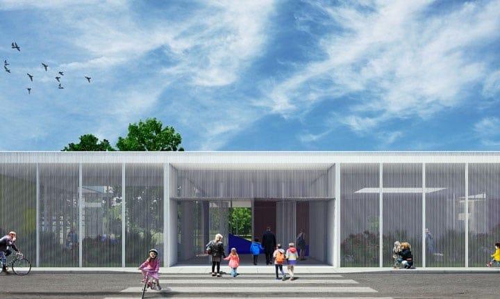 Progetto per la scuola di Arzachena (Sassari) vincitore del concorso 'Scuole innovative' - © Nicola Brenna
