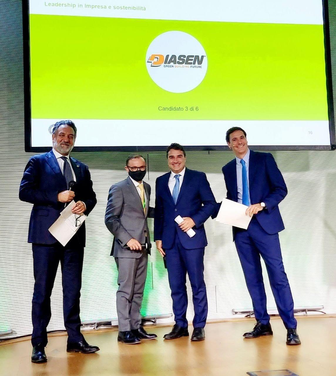 Diasen vince il premio 'Leadership in impresa e sostenibilità' di GBC Italia