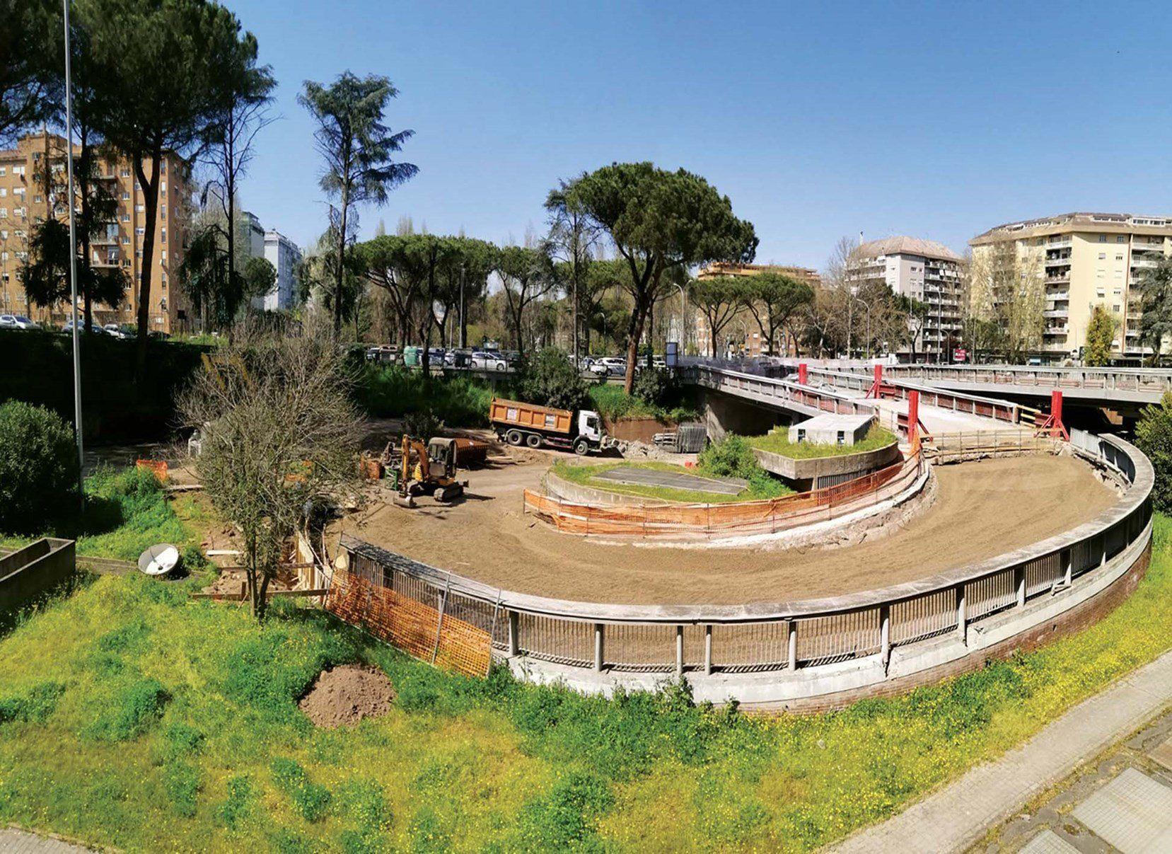 Soluzione leggera Leca per un rilevato stradale a Roma