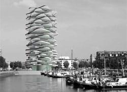 """Un """"Cactus Urbano"""" sul molo del porto di Rotterdam"""