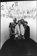 U. Mulas, Terry Piazzoli, Giorgio Colombo, Gae Aulenti, Hans Von Klier e Roberto Pieracini nel box della scrittura, © Eredi Ugo Mulas