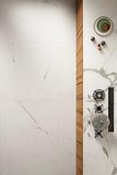 Vanity, Bianco Luce Touch (Kitchen) - Bianco Statuario Glossy (Floor)