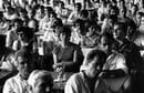 Milano 1984, assemblea operaia alla Pirelli © Giovanna Borgese