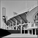 Exterior of the Franchi Stadium with one of the helical staircases ©Marco Menghi