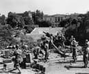 Seconda Guerra Mondiale_Valle Giulia_Giugno1944_sullo sfondo la British Academy e la Facolta` di Architettura