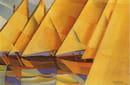 Ritmi di vela, 1929, olio su tavola, collezione privata. Courtesy Archivio Pippo Rizzo.