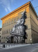 JR, La Ferita Installazione per la facciata di Palazzo Strozzi, 2021 - Photo by JR