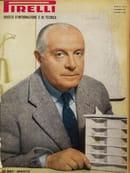 """Gio Ponti sulla copertina di """"Pirelli. Rivista d'informazione e di tecnica"""", n. 6, 1951, courtesy of Fondazione Pirelli"""