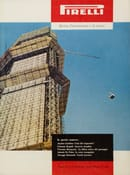 """Il Grattacielo in costruzione - Copertina di """"Pirelli. Rivista d'informazione e di tecnica"""", n. 1, 1958, courtesy of Fondazione Pirelli"""