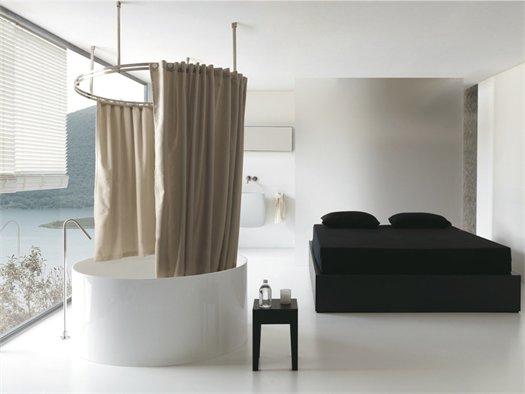 Colacril presenta la tenda vasca doccia disegnata da romano adolini - Tenda per vasca da bagno ...