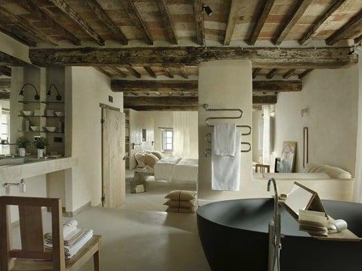 Case Toscane Interni : Val dorcia: il nuovo hotel disegnato da ilaria miani