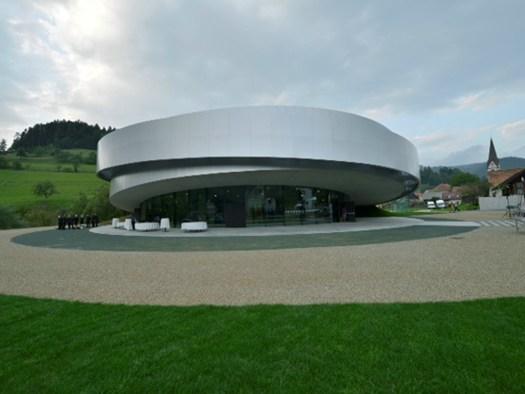 Cultural Center of Eropean Space Tehnologies; Project Team: Bevk Perovic arhitekti, Dekleva Gregoric arhitekti, OFIS arhitekti, SADAR+VUGA; Vitanje, S