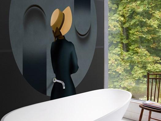 Carta Da Parati Bagno Texture : Carta da parati in bagno come comfort zone visiva