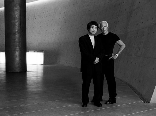 Giorgio Armani and Tadao Ando - Photocredit Roger Hutchings