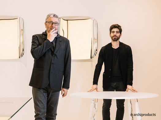 Philippe Starck with Sergio Schito_photo © Archiproducts