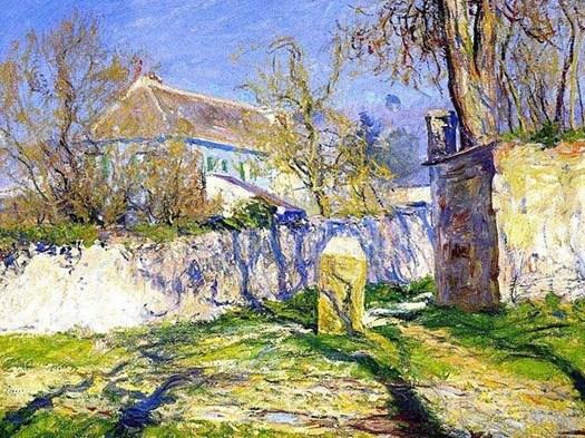 Il pittore impressionista californiano Guy Rose dipinse la La Maison Bleue nel 1910