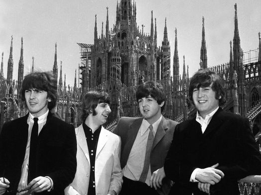 I Beatles sul tetto del Duomo © Archivi Farabola