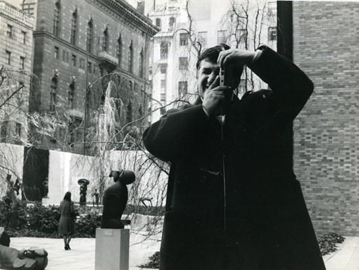 Emilio Scanavino al MoMA Museum of Modern Art di New York City, 1961. Archivio Scanavino