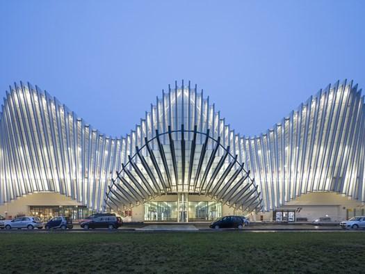 Stazione Mediopadana Reggio Emilia, 2002 – 2014 Foto© Burg / Schuh, Palladium Photodesign