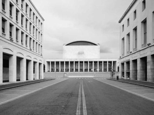 Vista del Palazzo dei Congressi, Roma (EUR)