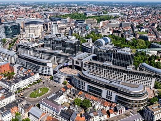Vista aerea del Parliament Buildings da Place du Luxembourg - ©European Union