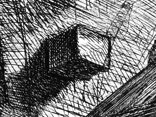 Mario Cresci Tre focus su Piranesi #07, Roma 2011 – Bergamo 2020 Still da video, 4'20'' © Mario Cresci, Courtesy Istituto Centrale per la Grafica, Rom