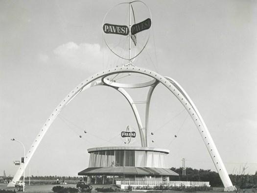1958 - Autogrill Pavesi, Villoresi (Lainate) - Progettista Arch. A. Bianchetti, archivio Arch. J.J. Bianchetti