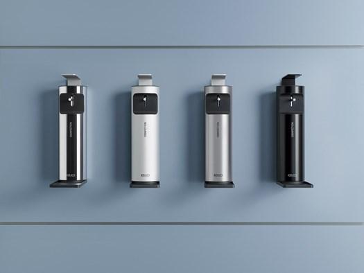 1. I nuovi dispenser per disinfettante firmati Keuco