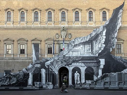 Punto di Fuga, Palazzo Farnese, Roma - ©JR-ART.NET
