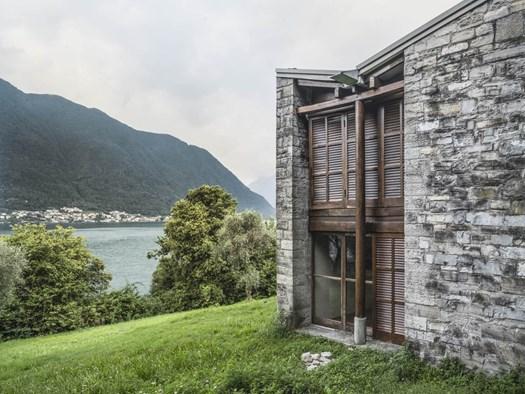 Casa per artisti, isola Comacina (Como), 1933-1940. (Foto di Filippo Romano, 2021)