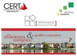 """A Bologna """"Efficienza energetica e qualità costruttiva"""""""