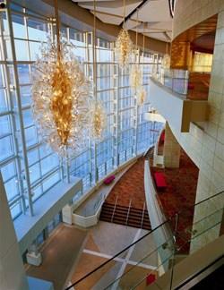 Andromeda illumina l'Energy Centre di Atlanta