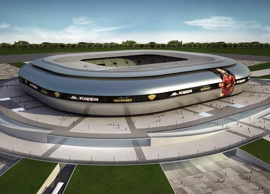 Il nuovo Stadio della Roma di GAU Arena