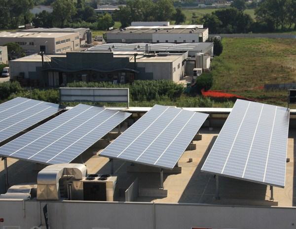 Brandoni Solare per la copertura di un grande Centro Commerciale nelle Marche
