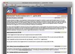 AluK Group: aggiornamenti tecnico-commerciali via email