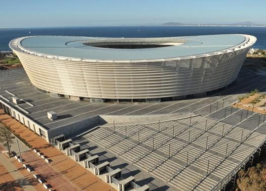 Lo stadio di Cape Town per i mondiali di calcio FIFA 2010