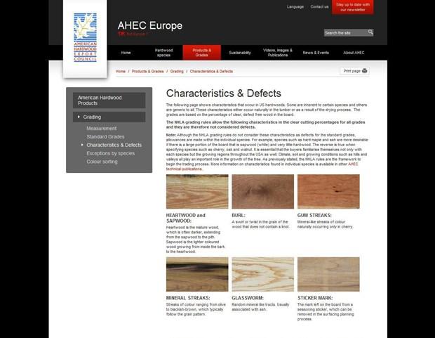 AHEC lancia il nuovo sito web